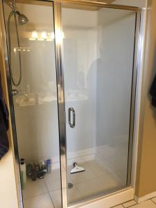 framed shower glass