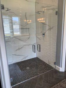 barn door shower