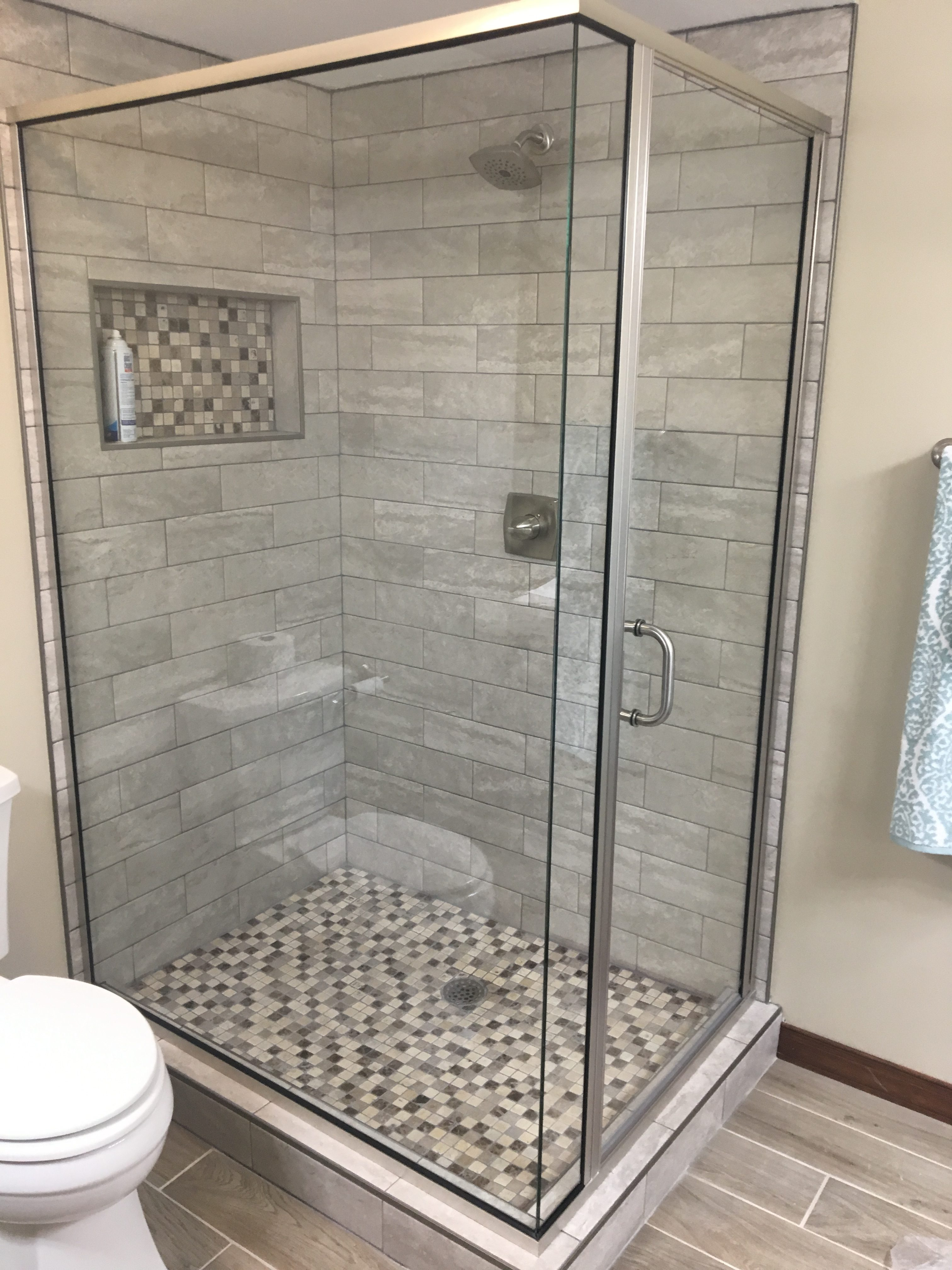 rock shelf shower