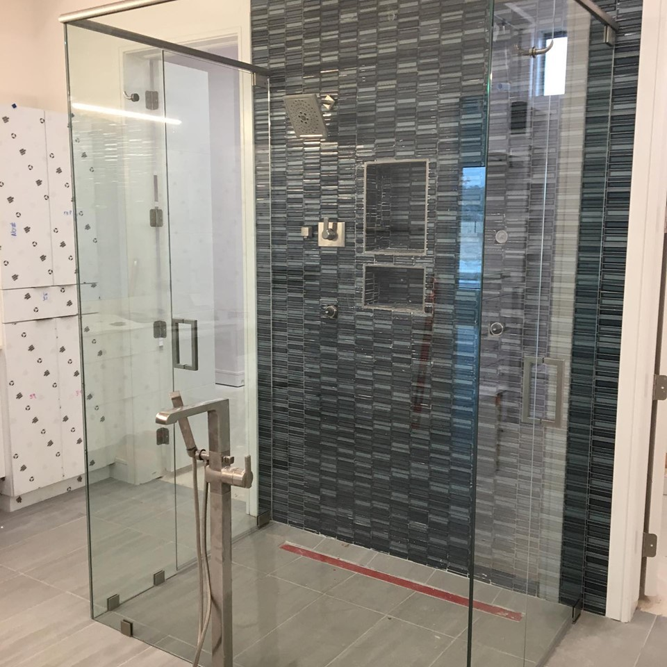 Dark tile shower - Copy