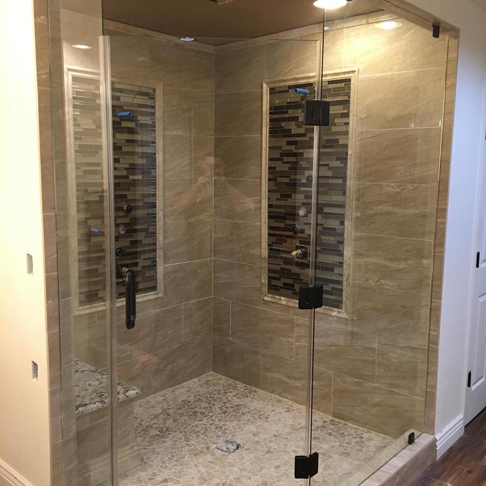 Tile insert shower